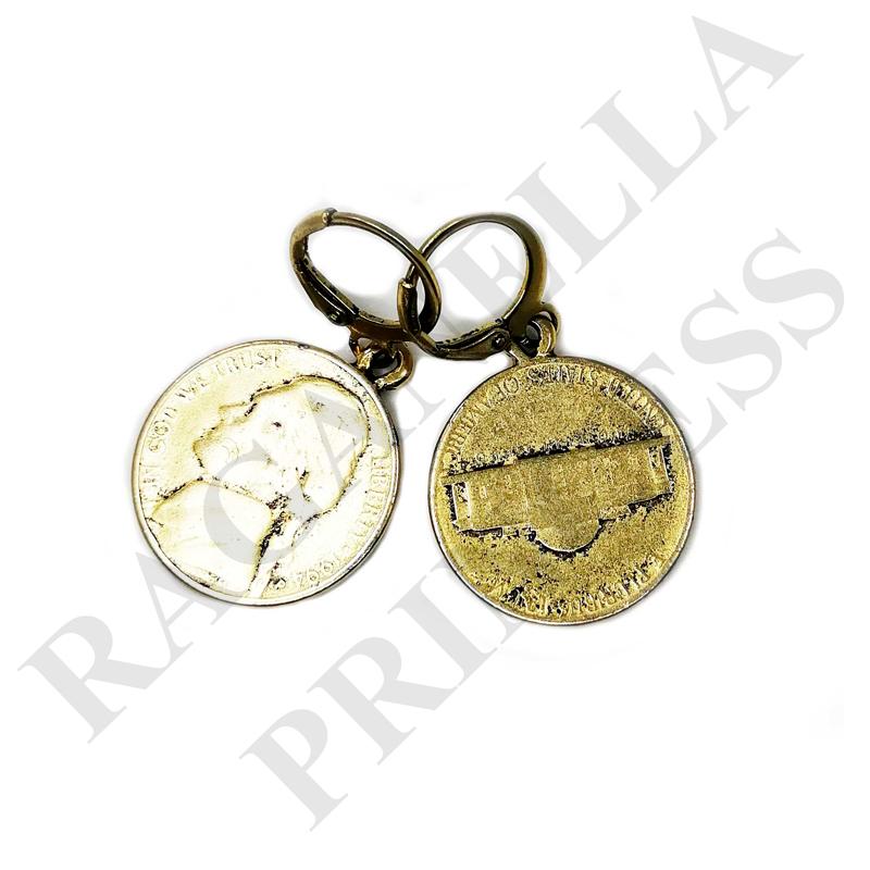 Серьги с Монетами - ser1119185